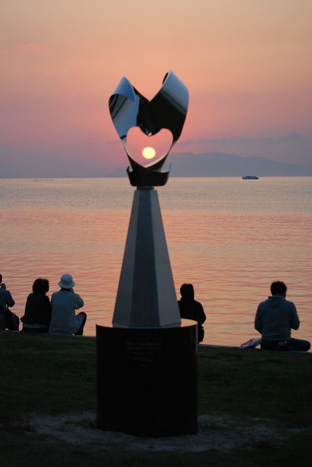 宍道湖畔の「オープン・マインド・オブ・ラフカディオ・ハーン」