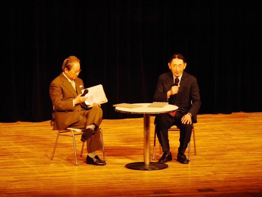 平川祐弘さんと池野誠・山陰文藝協会会長(八雲会理事)との対談