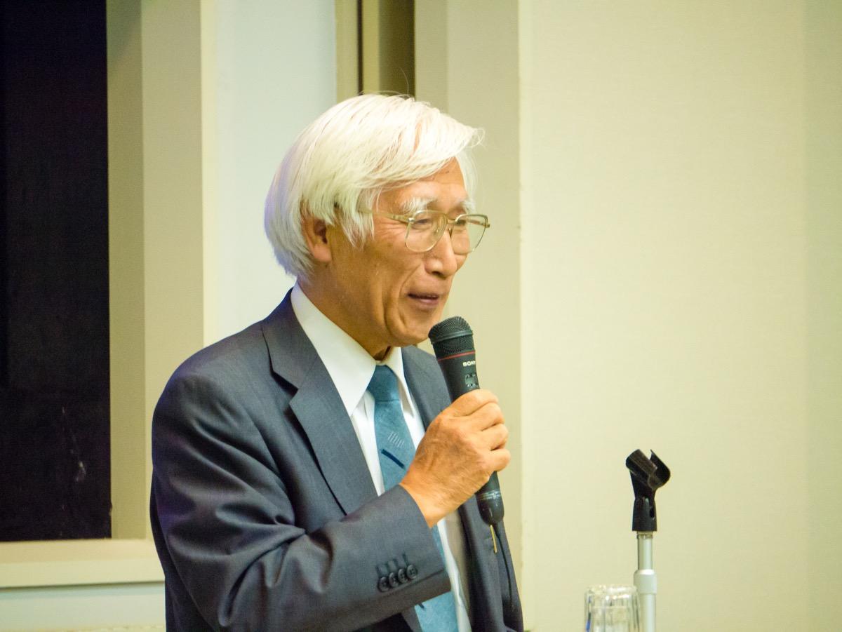 西川盛雄さんの記念講演「ラフカディオ・ハーン(小泉八雲):八雲会100年『八雲の記憶』」