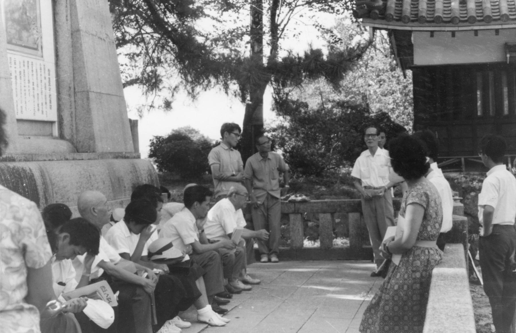 へるんサマースクール(1965年8月、松江城本丸)